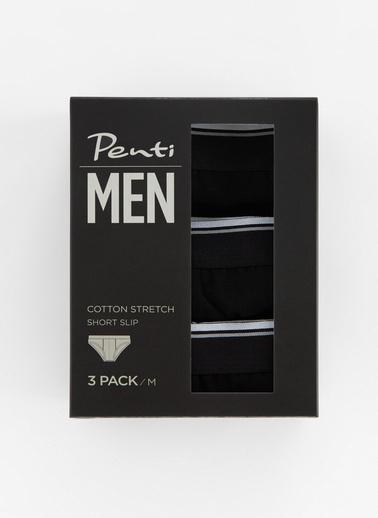 Penti Siyah Basıc Tape 3Lü Kısa Slıp Siyah